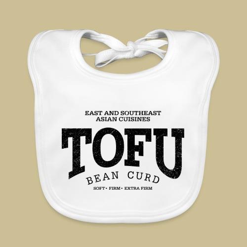 Tofu (black oldstyle) - Baby Bio-Lätzchen