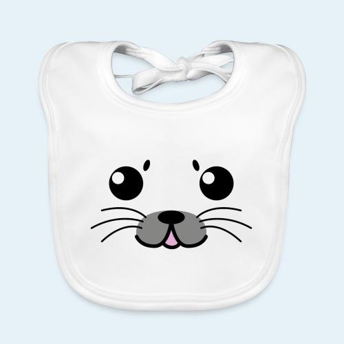 Foca bebé (Cachorros) - Babero de algodón orgánico para bebés