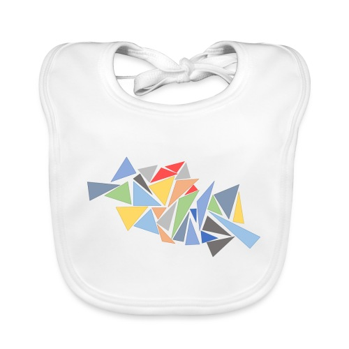 Modern Triangles - Organic Baby Bibs
