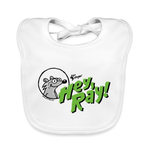 Hey Ray Logo green - Baby Bio-Lätzchen