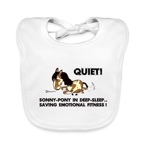 QUIET Sonny Pony in deep sleep - Baby Bio-Lätzchen