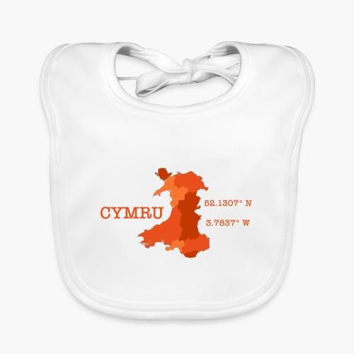 Cymru - Latitude / Longitude - Baby Organic Bib