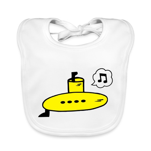 Singing Yellow Submarine - Organic Baby Bibs