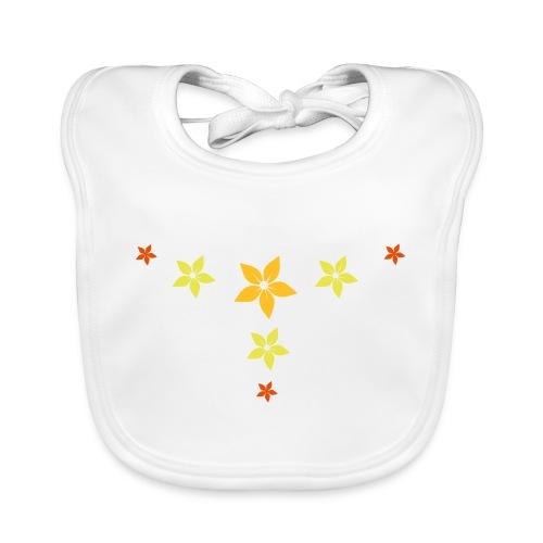 flower, star - Baby Bio-Lätzchen