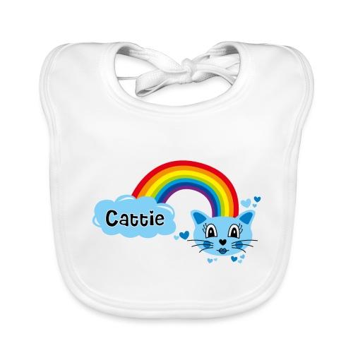 Motif Cattie - Bavoir bio Bébé