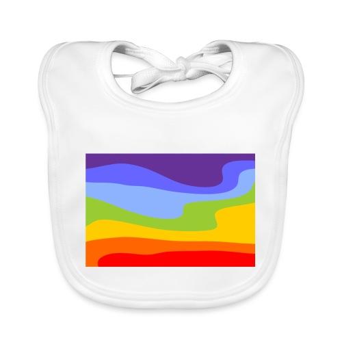 Hintergrund Regenbogen Fluss - Baby Bio-Lätzchen