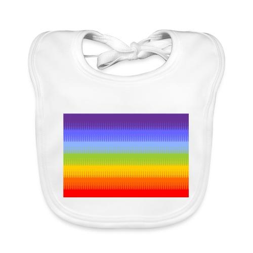 Hintergrund Regenbogen Streifen - Baby Bio-Lätzchen