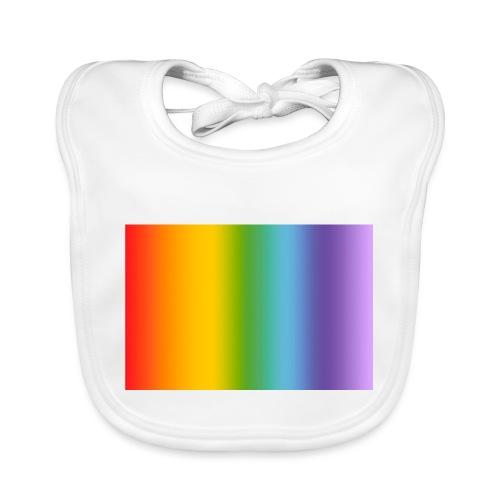 Hintergrund Regenbogen soft - Baby Bio-Lätzchen