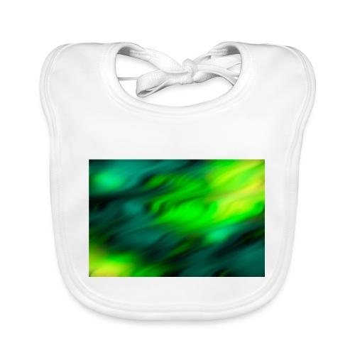Hintergrund Wellen grün - Baby Bio-Lätzchen