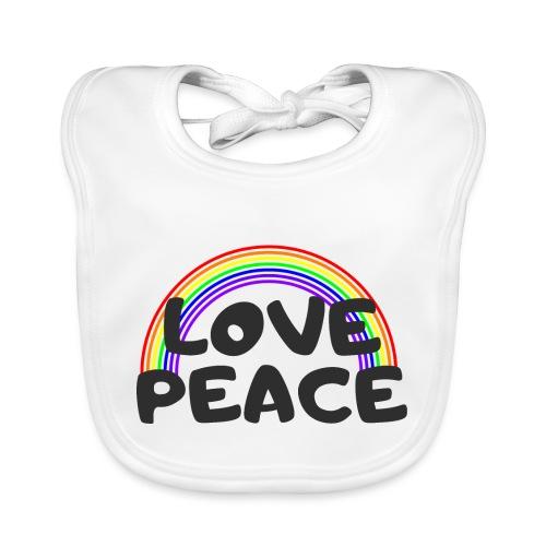 Love Peace Gay LGBT Shirt Geschenk - Baby Bio-Lätzchen