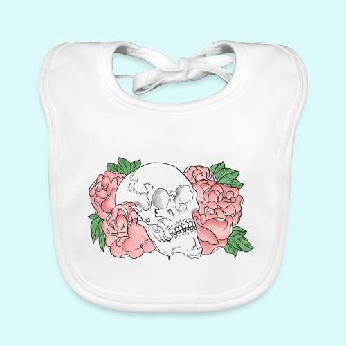 skull et fleurs - Bavoir bio Bébé