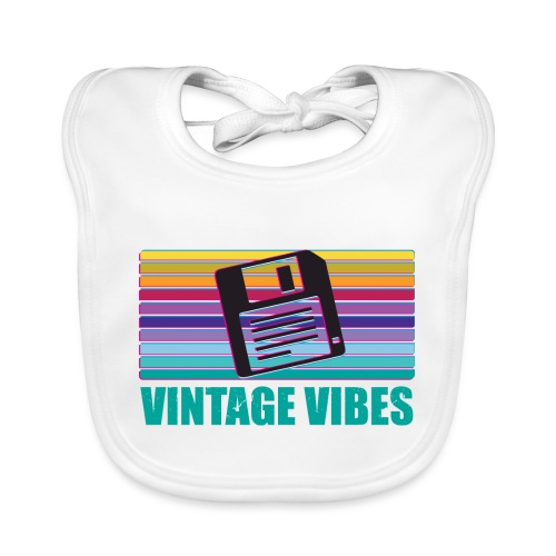 Floppy Disk magnetischer Datenträger - Baby Bio-Lätzchen
