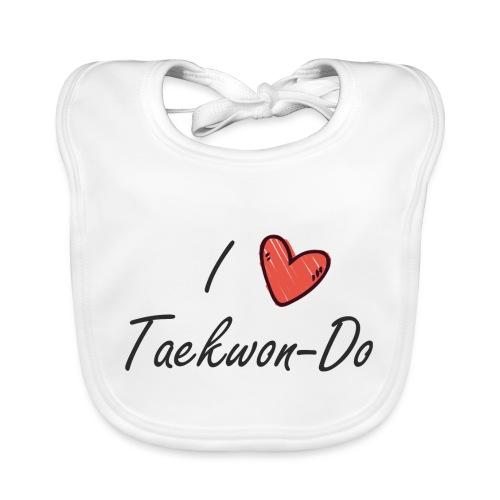 I love taekwondo letras negras - Babero ecológico bebé