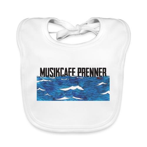 Musikcafe Prenner Schriftzug - Baby Bio-Lätzchen