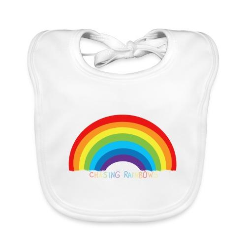 chasing rainbows - Babero de algodón orgánico para bebés