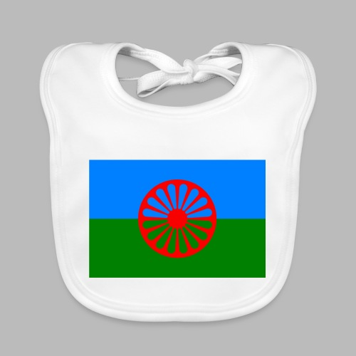 Flag of the Romani people - Ekologisk babyhaklapp