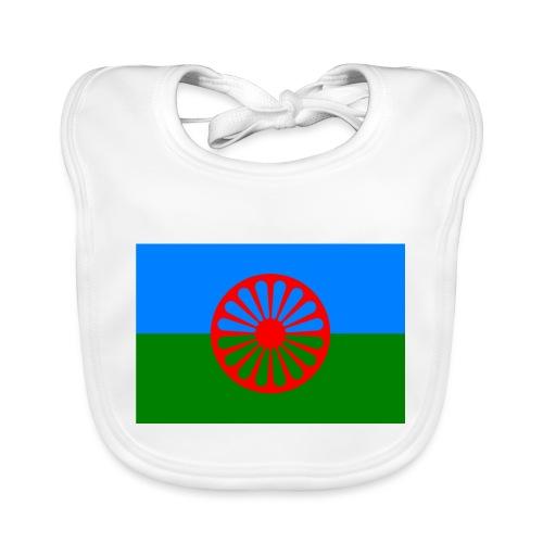 Flag of the Romani people - Ekologisk babyhaklapp