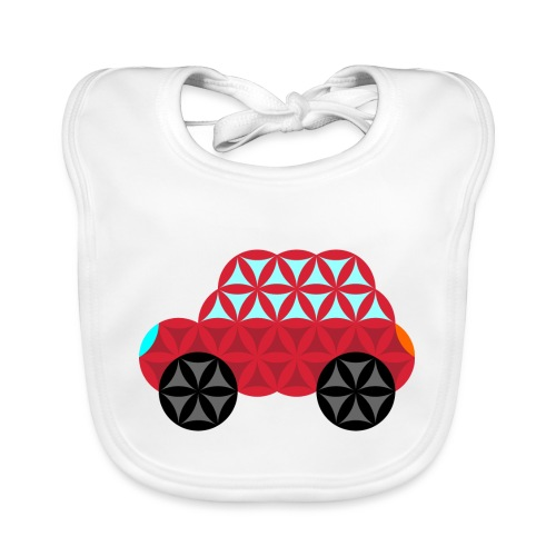 The Car Of Life - M01, Sacred Shapes, Red/186 - Organic Baby Bibs