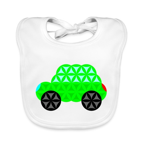 The Car Of Life - M01, Sacred Shapes, Green/R01. - Organic Baby Bibs