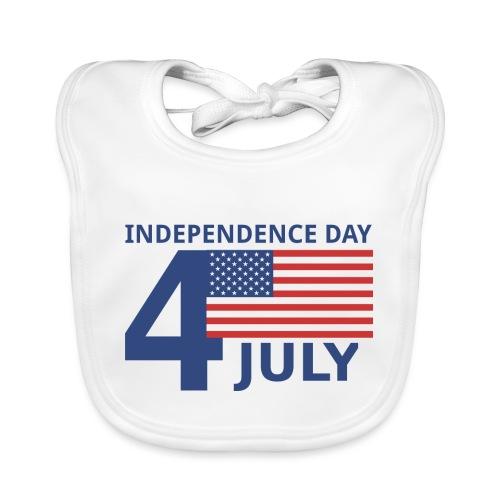 4th of July. 4 luglio - Bavaglino ecologico per neonato