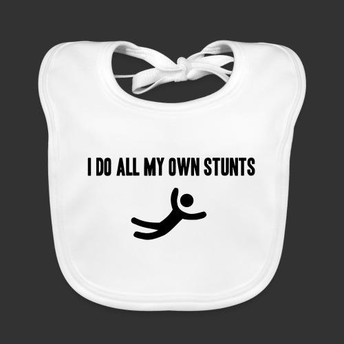 T-shirt, I do all my own stunts - Ekologisk babyhaklapp