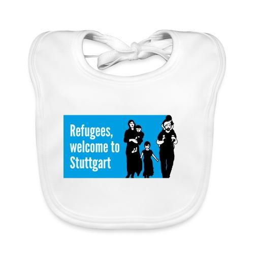 Refugees welcome - Baby Bio-Lätzchen