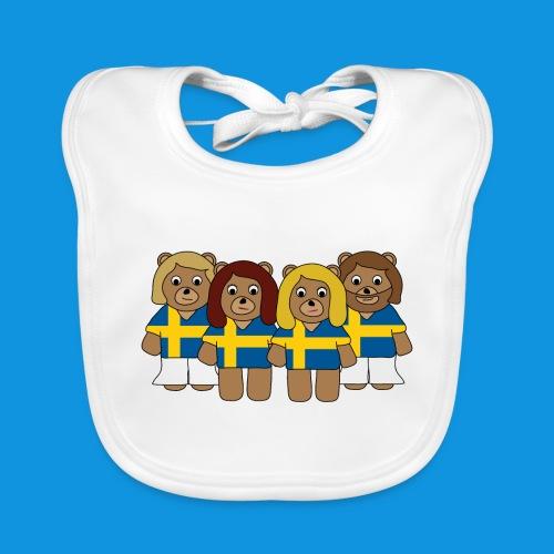 Abba Sweden Bears.png - Baby Organic Bib