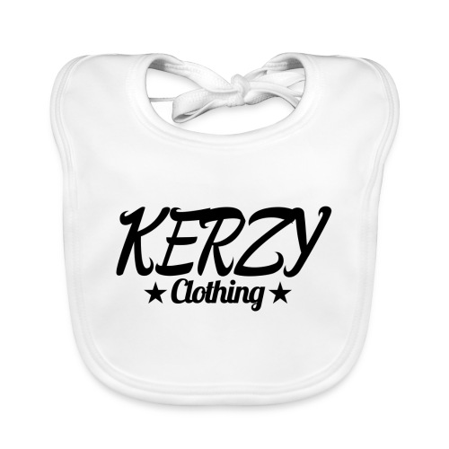 Official KerzyClothing T-Shirt Black Edition - Baby Organic Bib