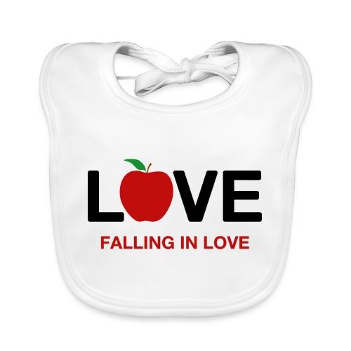 Falling in Love - Black - Baby Organic Bib