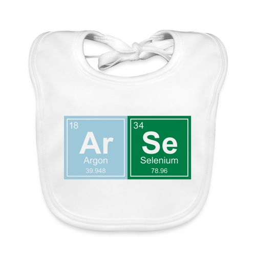 Geeky Arse Periodic Elements - Baby Organic Bib