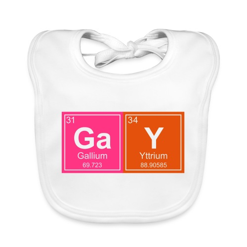 Geeky Gay Periodic Elements - Baby Organic Bib