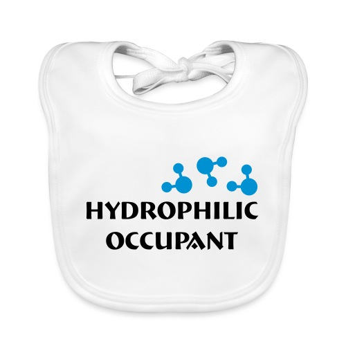 Hydrophilic Occupant (2 colour vector graphic) - Baby Organic Bib