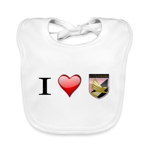 I Love Palermo - Bavaglino ecologico per neonato