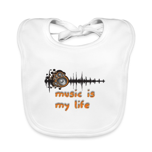 Music is my Life - Bavaglino ecologico per neonato