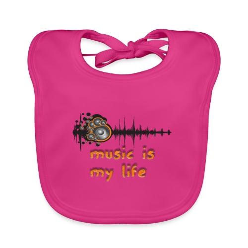 Music is my Life - Bavaglino ecologico per neonato