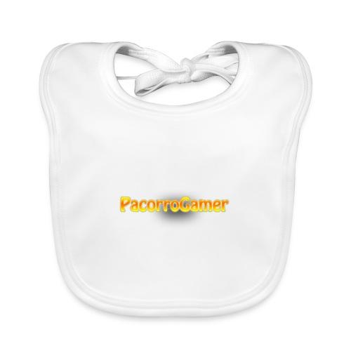 PacorroGamer logotipo de f - Babero de algodón orgánico para bebés