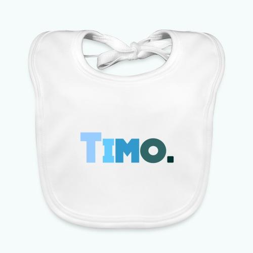 Timo in blauwe tinten - Bio-slabbetje voor baby's