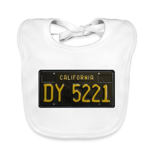 CALIFORNIA BLACK LICENCE PLATE - Baby Organic Bib