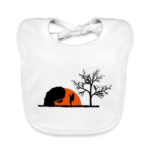 Boulderer im Sonnenuntergang - Baby Bio-Lätzchen