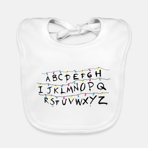 Stranger Things Alphabet Women's T-Shirts - Baby Organic Bib
