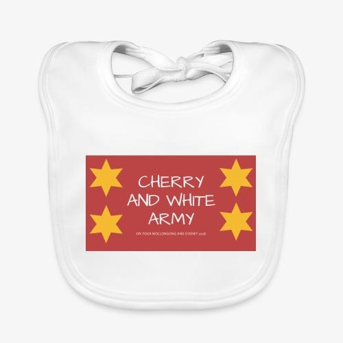 CHERRY AND WHITE ARMY NSW TOUR 2018 - Baby Organic Bib