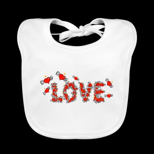Flying Hearts LOVE - Baby Organic Bib