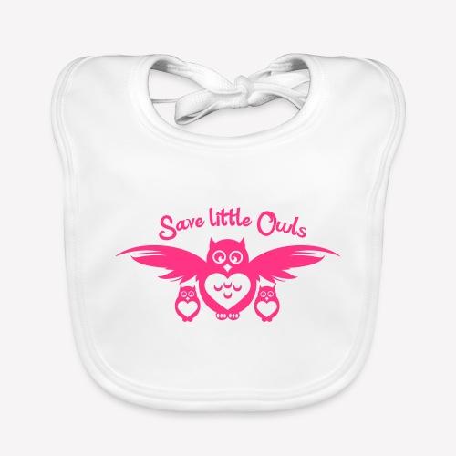 Save little Owls - Baby Bio-Lätzchen
