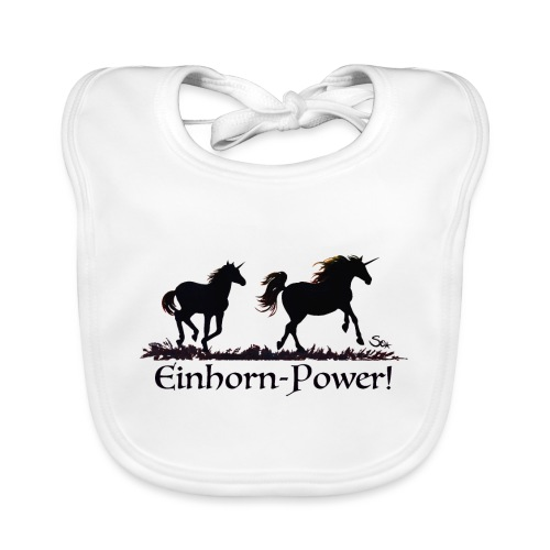 Einhorn-Power - Baby Bio-Lätzchen