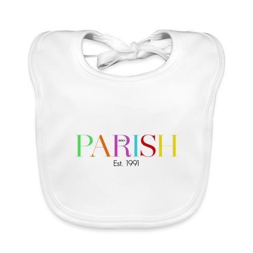 Jessica Parish Color-Schriftzug - Baby Bio-Lätzchen