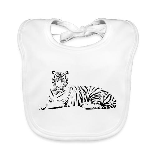 Weisser Tiger Shirt Geschenk - Baby Bio-Lätzchen