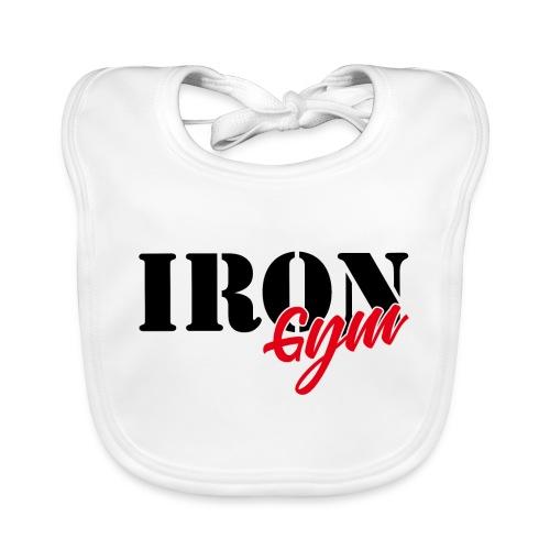 iron gym logo black - Babero de algodón orgánico para bebés