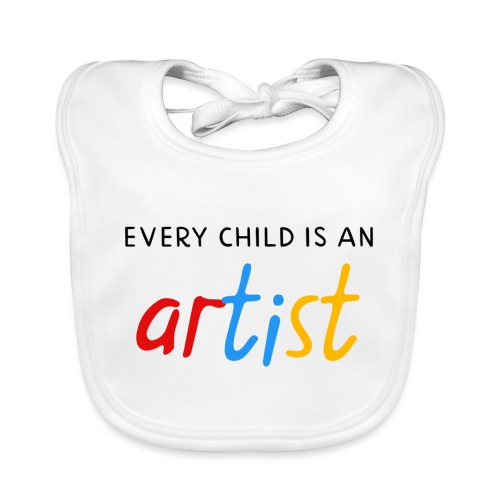 Every child is an artist - Bio-slabbetje voor baby's