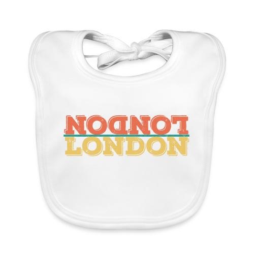 Vintage London Souvenir - Retro Upside Down London - Baby Bio-Lätzchen