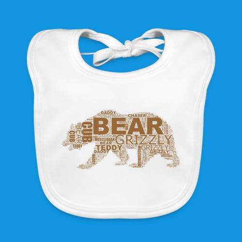 Bear Word Cloud - Baby Organic Bib